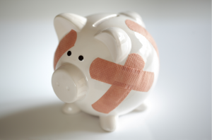 repaired piggy bank- debt relief help